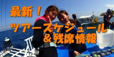 ツアースケジュール&残席情報を更新(5/6現在)